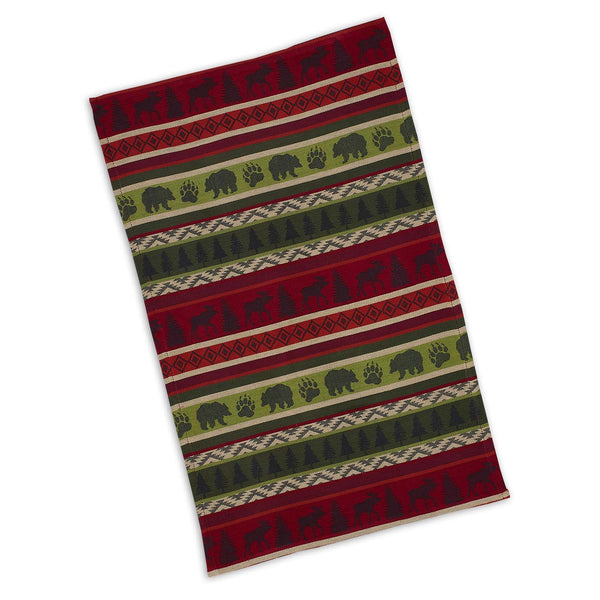 Mountain Woods Stripe Jacquard Dishtowel