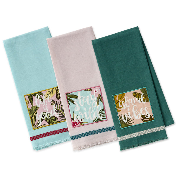 Tropical Vibes Embellished Dishtowels - DII Design Imports