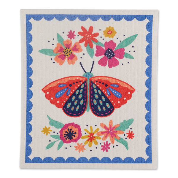 BUTTERFLY FOLK SWEDISH DISHCLOTH