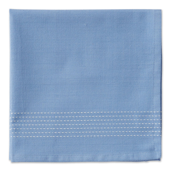 True Blue Dobby Stripe Napkin - DII Design Imports