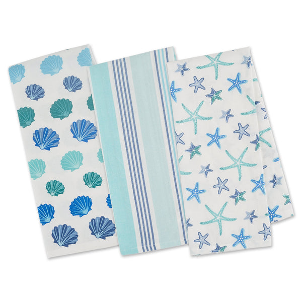 BEACH COMBER DISHTOWEL SET OF 3