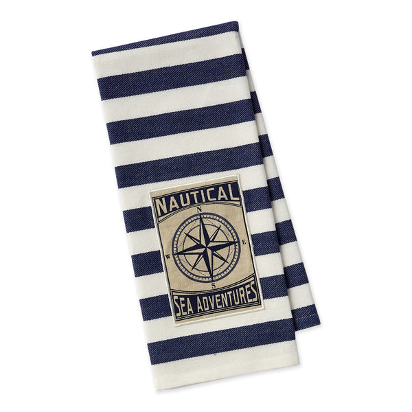 Nautical Sea Adventures Embellished Dishtowel - DII Design Imports