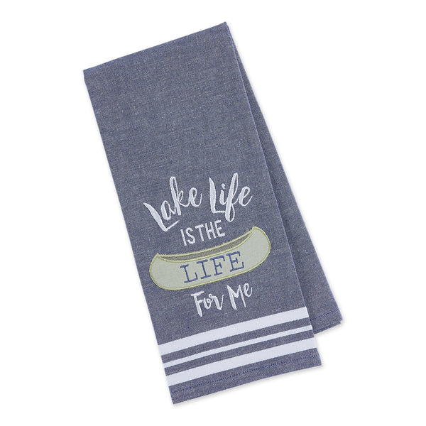 Lake Life Embellished Dishtowel
