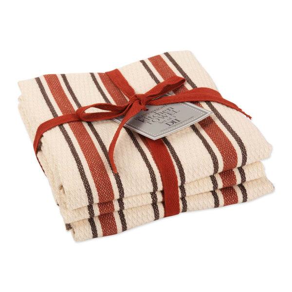 Autumn Stripe Heavyweight Dishtowel Set of 3