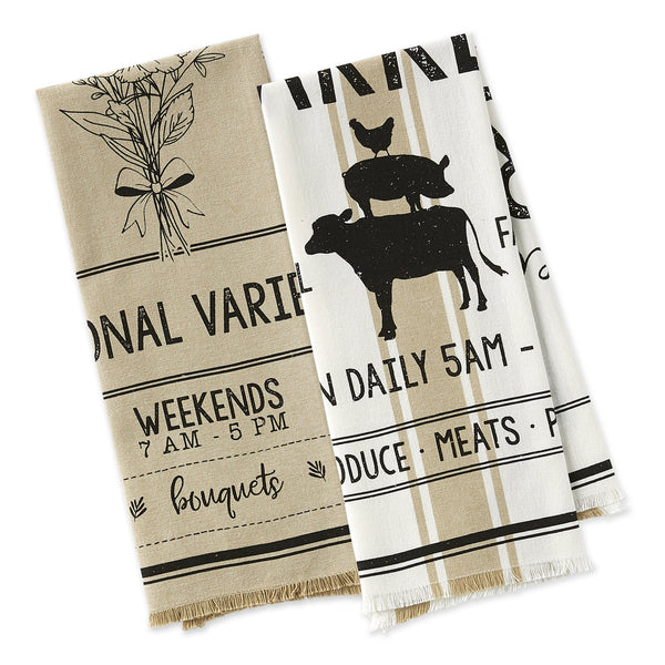 Going to the Market Dishtowels - DII Design Imports