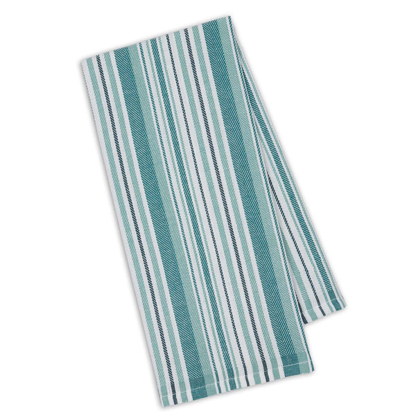 North Sea Herringbone Stripe Dishtowel