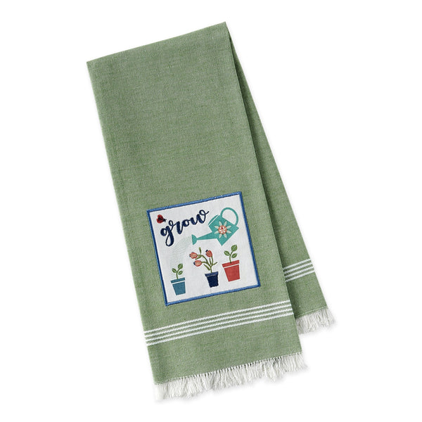 Grow Embellished Dishtowel - DII Design Imports