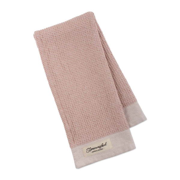 Pink Quartz Washed Waffle Dishtowel - DII Design Imports