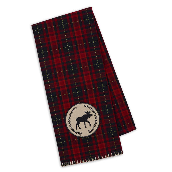 Moose Laurel Embellished Dishtowel