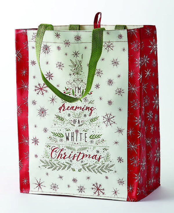 White Christmas Tree Reusable Tote
