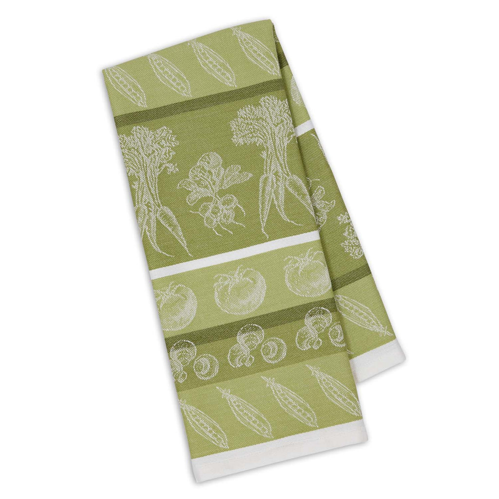 Parsley Green Veggies Jacquard Dishtowel - DII Design Imports