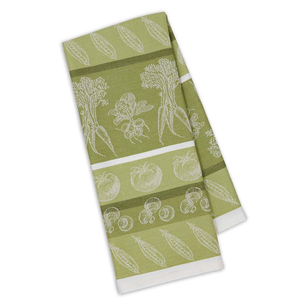 Parsley Green Veggies Jacquard Dishtowel