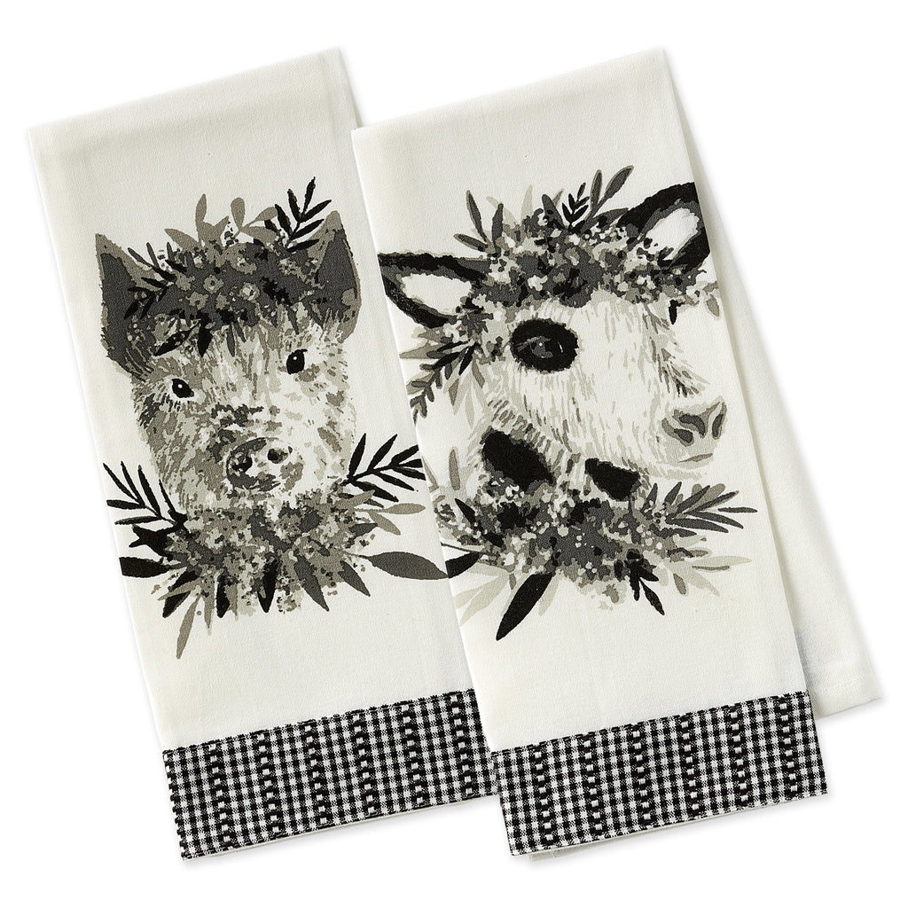 Barn Animals Embellished Dishtowels - DII Design Imports