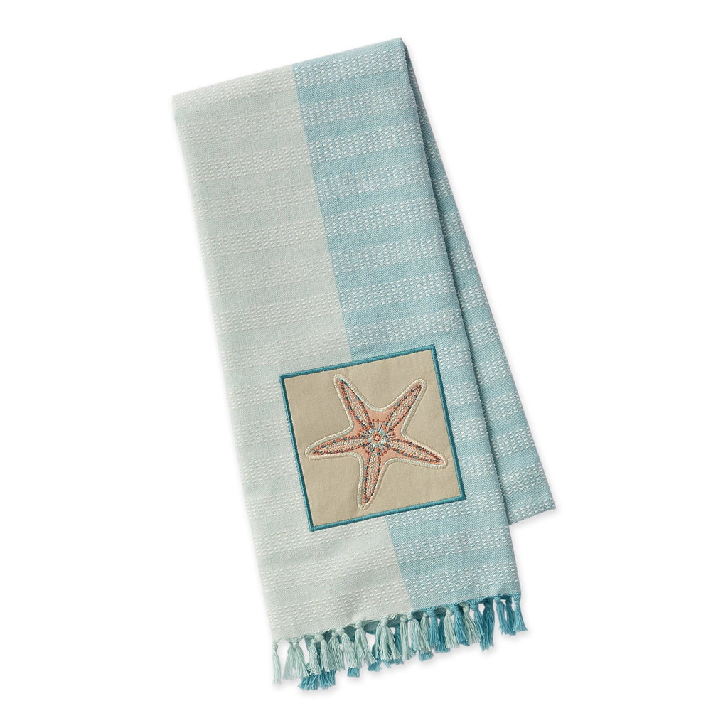 Starfish Embellished Dishtowel - DII Design Imports