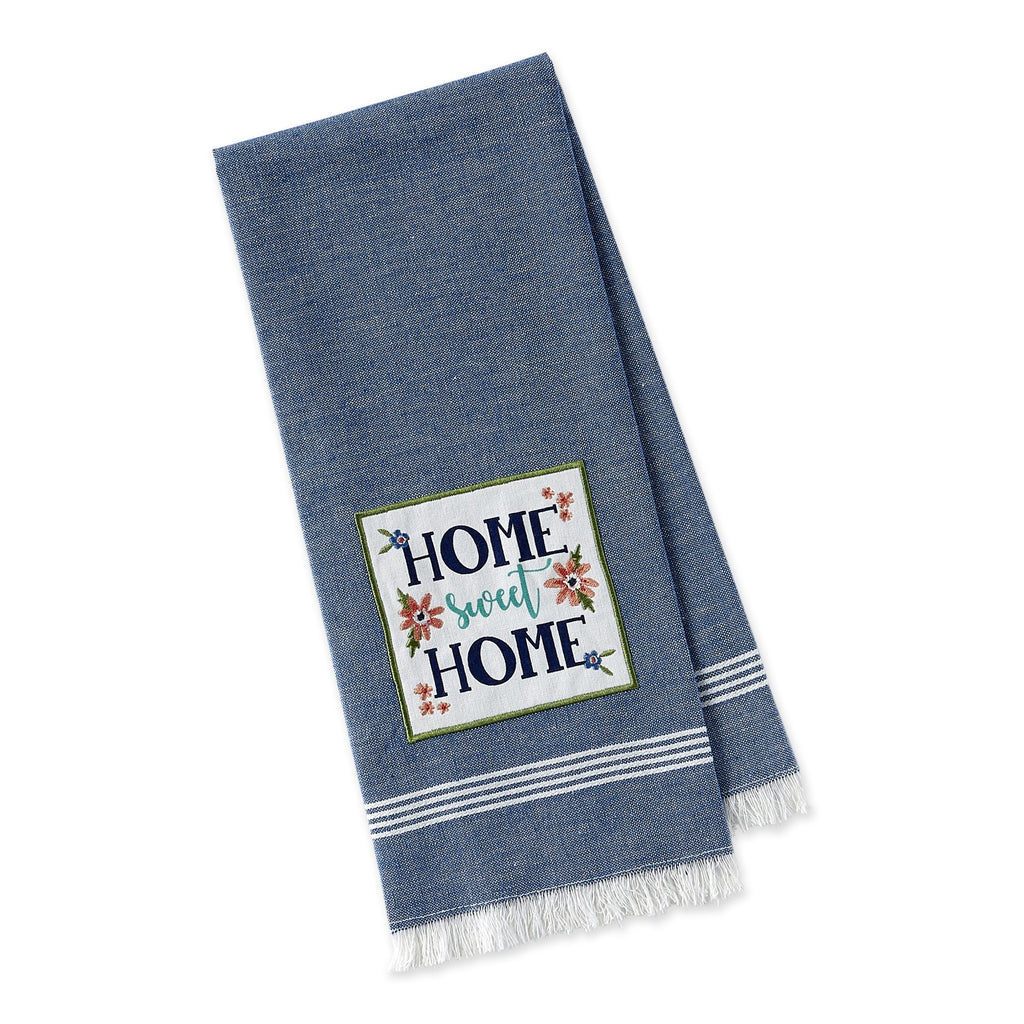 Home Sweet Home Embellished Dishtowel - DII Design Imports