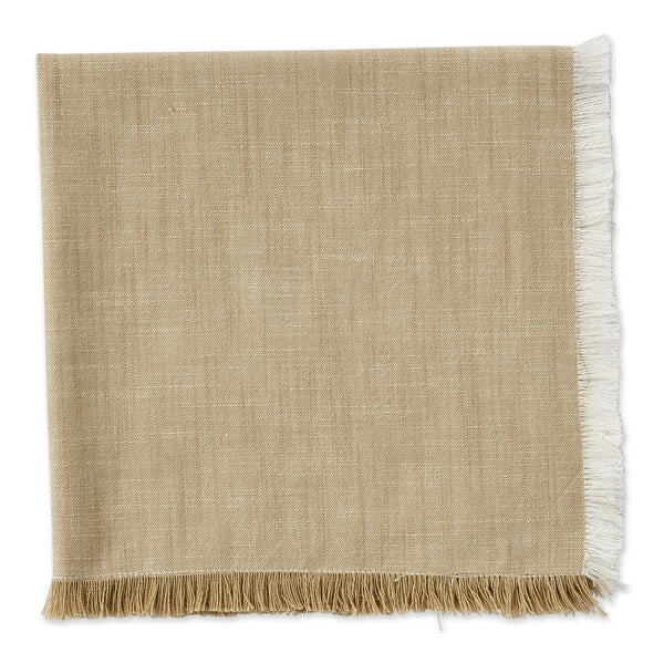 Earth Tan Fringe Napkin - DII Design Imports
