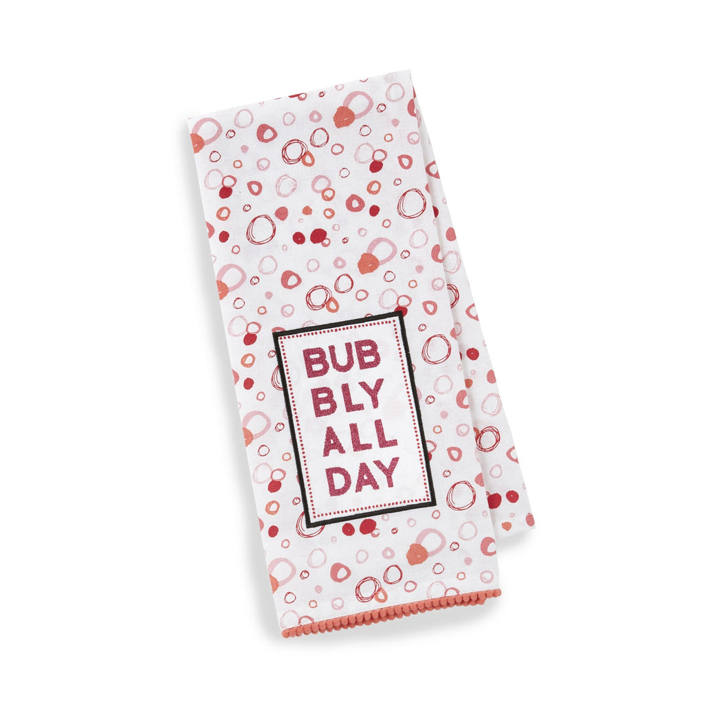Bubbly All Day Embellished Dishtowel - DII Design Imports