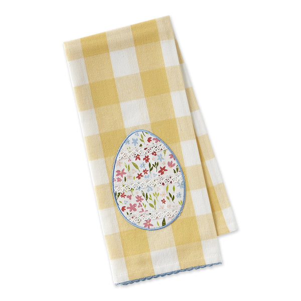 Lace Egg Embellished Dishtowel - DII Design Imports