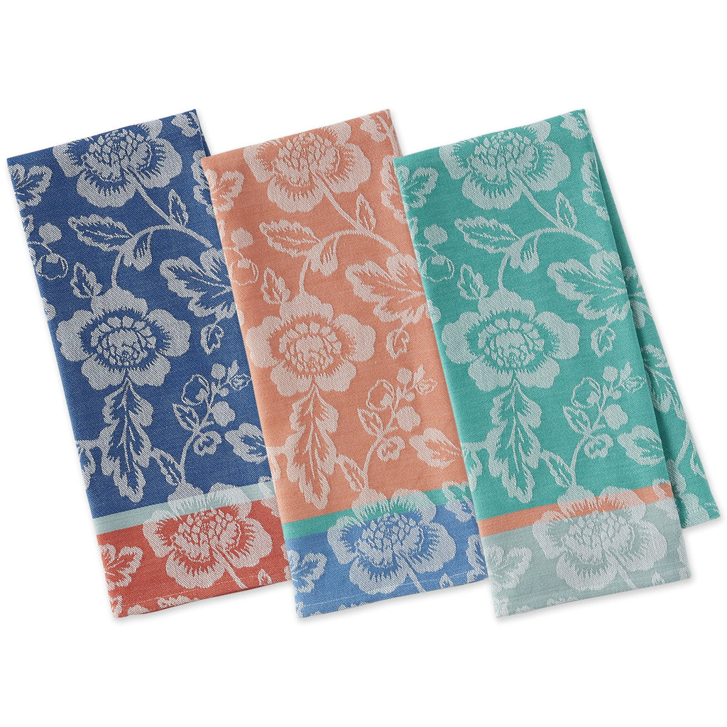 Big Blooms Jacquard Dishtowels - DII Design Imports