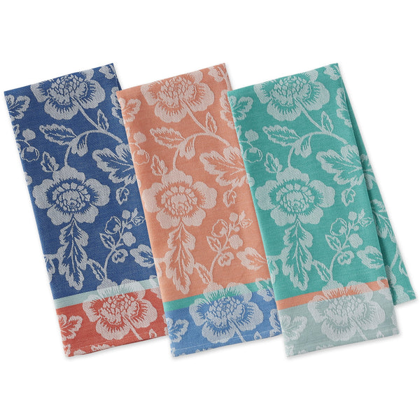 Big Blooms Jacquard Dishtowels