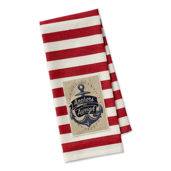 Anchors Aweigh Embellished Dishtowel - DII Design Imports