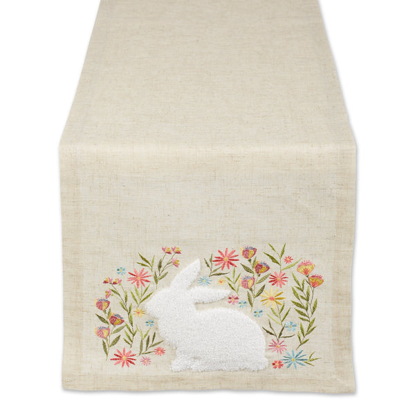 SPRINNG MEADOW EMBROIDERED TABLE RUNNER - 14 X 70""