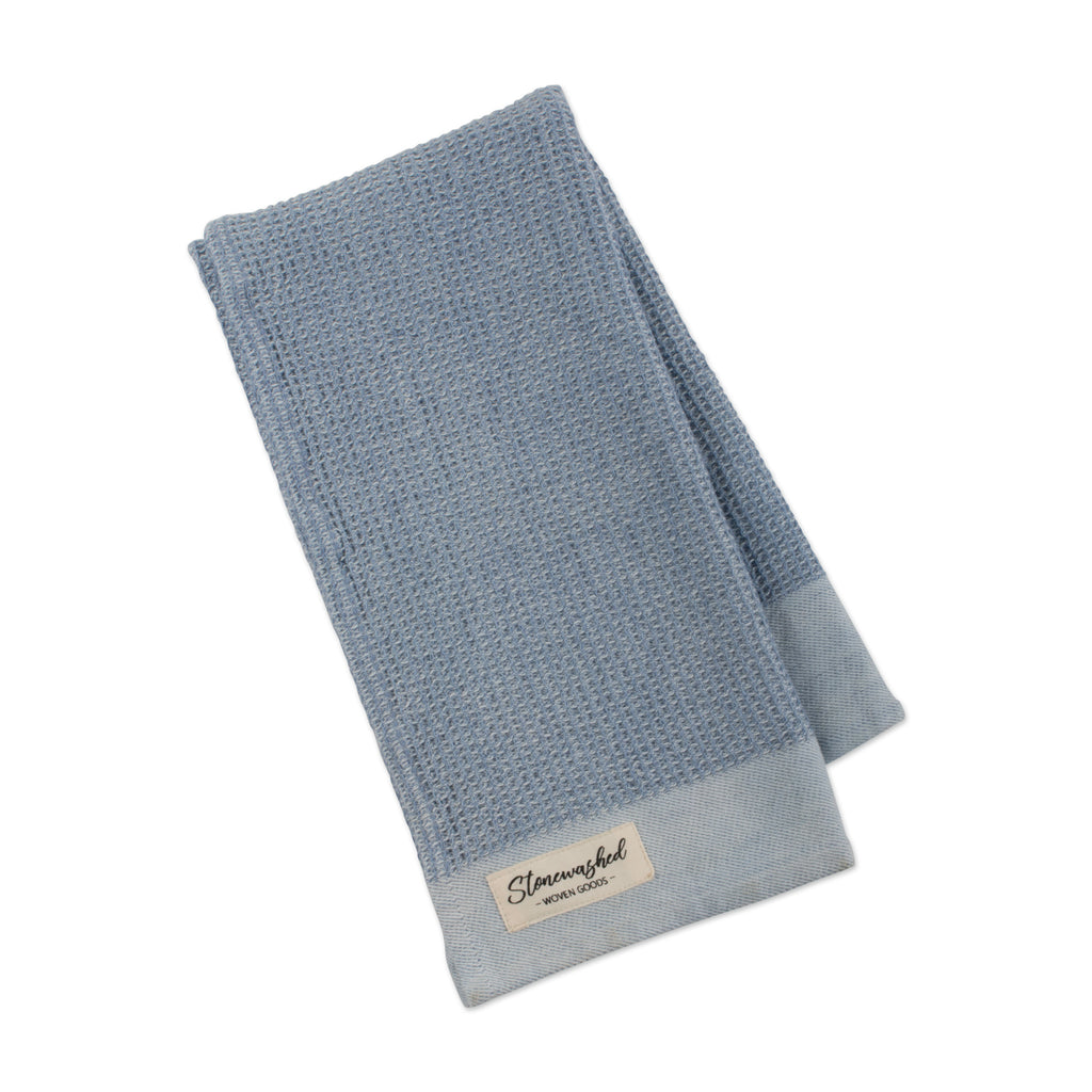 Storm Blue Washed Waffle Dishtowel - DII Design Imports