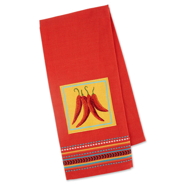 CHILIS EMBELLISHED DISHTOWEL