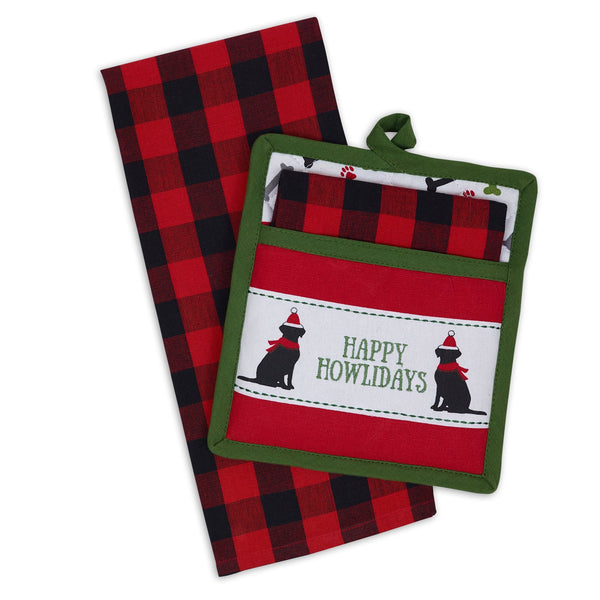 Happy Howlidays Potholder Gift Set