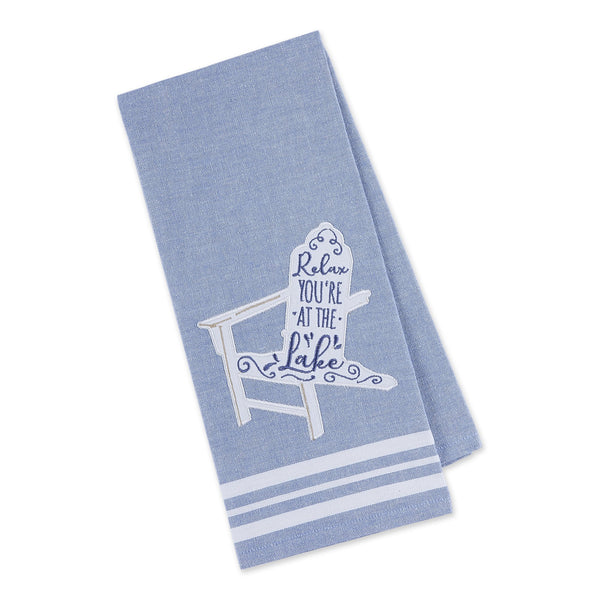 Relax at the Lake Embellished Dishtowel