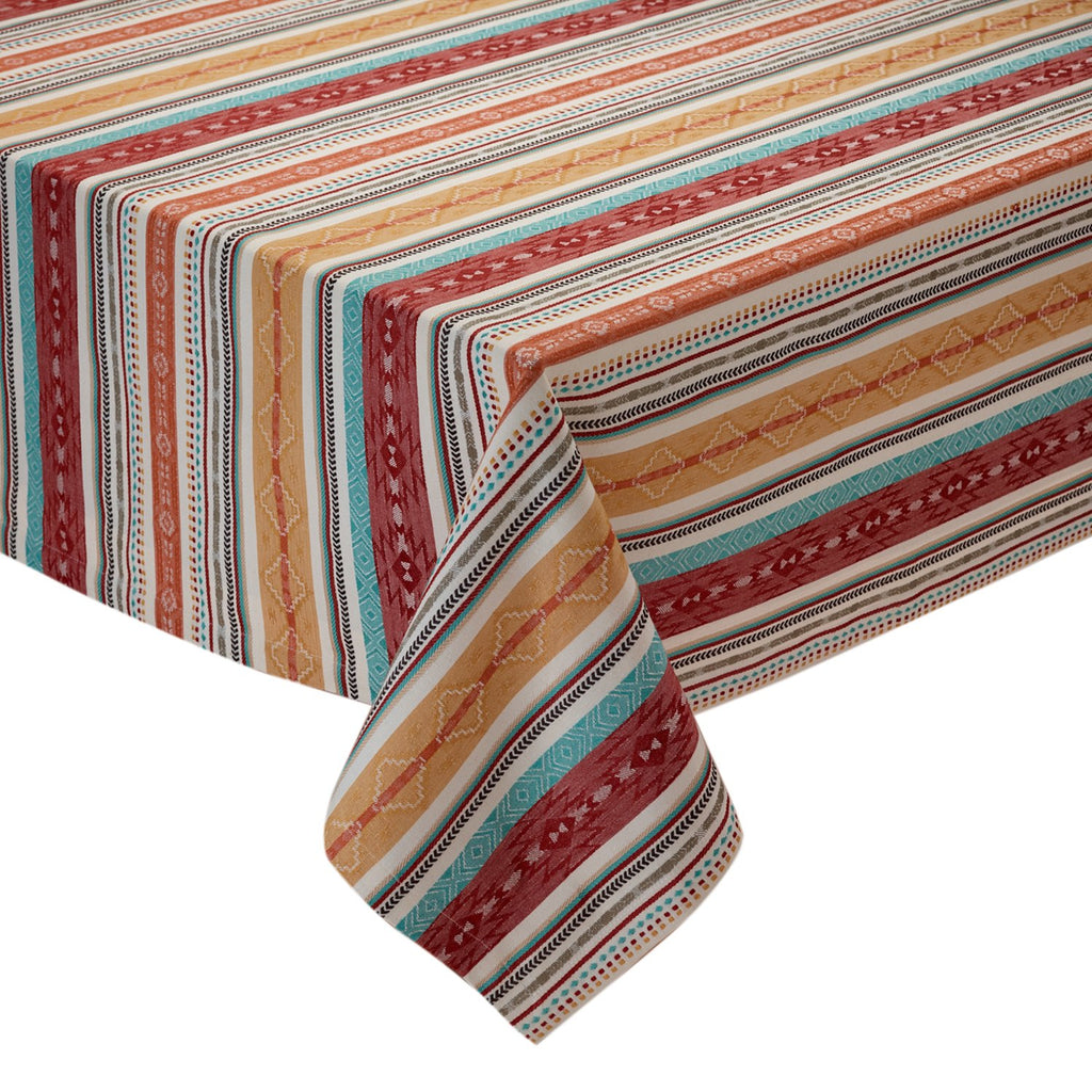 MESA STRIPE JACQUARD TABLECLOTH - 52 X 52