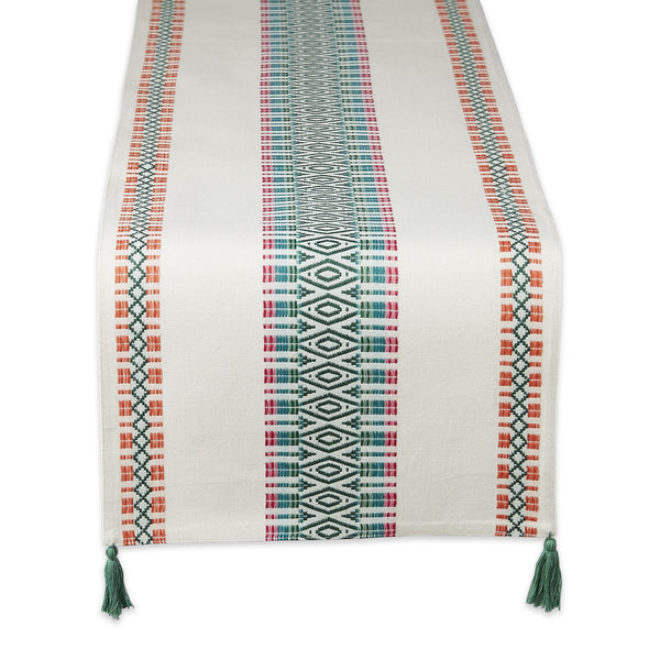 Island Diamonds Dobby Table Runner - DII Design Imports