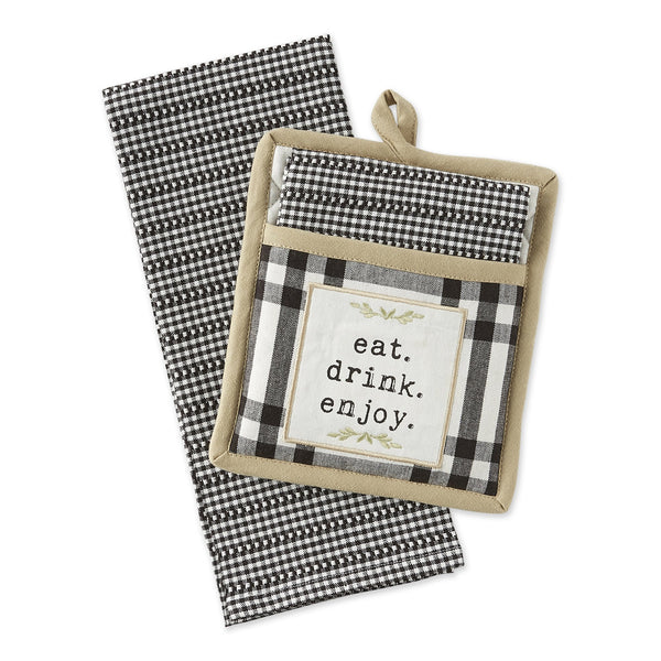 Home Sweet Farmhouse Potholder Gift Set - DII Design Imports