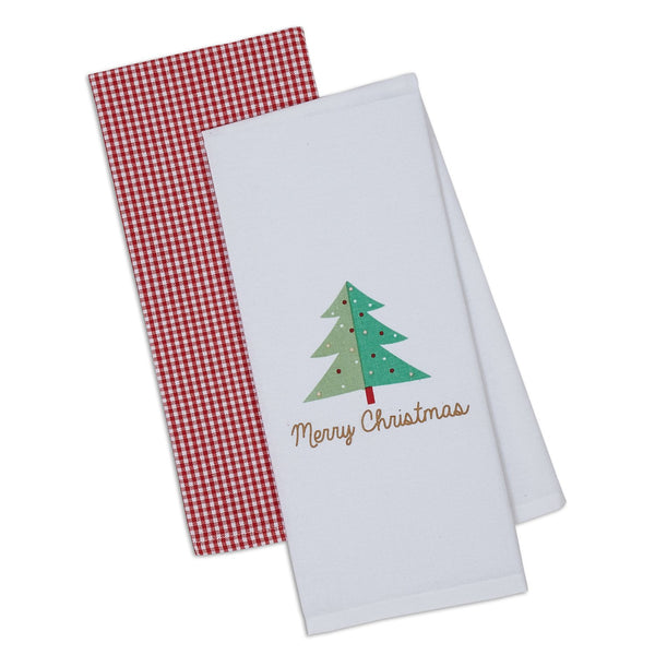 Merry Christmas Dishtowel Set of 2