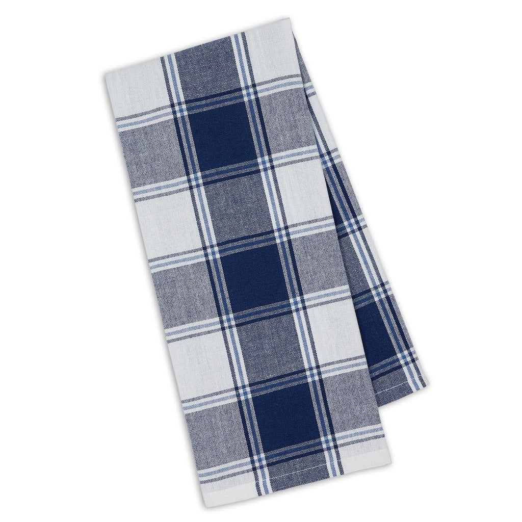 Marine Blue Picnic Plaid Dishtowel - DII Design Imports