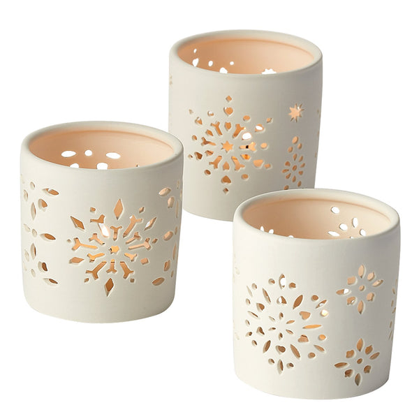Snowflake Votives Set of 3