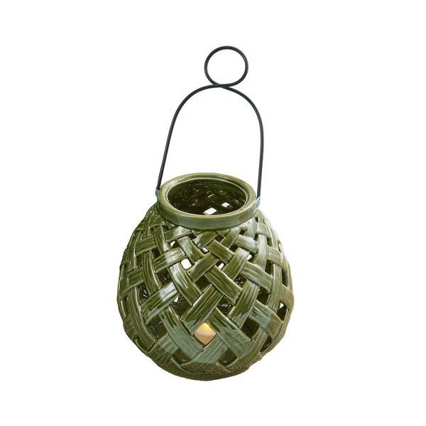 Bamboo Lattice Small Lantern - DII Design Imports