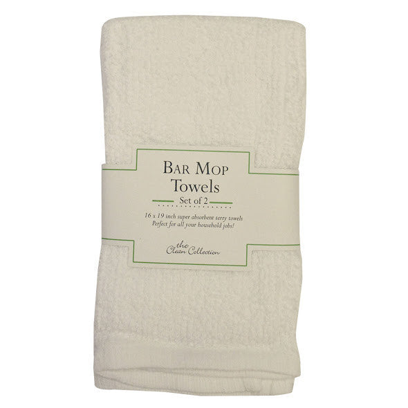 Wholesale - White Terry Bar Mop Dishtowels - Set of 2 - DII Design Imports