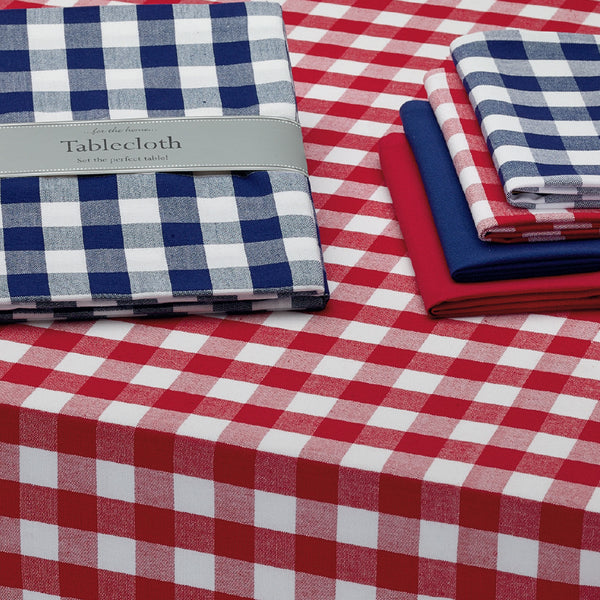 Wholesale - Tango & White Checkers Tablecloth - DII Design Imports - 2
