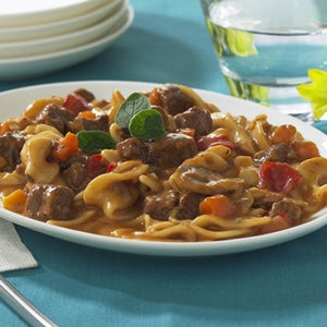 HIGH PROTEIN BEEF STROGANOFF WITH NOODLES ENTREE (Pack of 7)