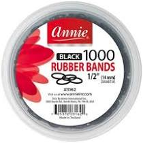 Annie Black 1000 Rubber Bands