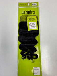"Janeiro 100% Virgin Brazilian Deep Wave 12"" 4x4 Closure"