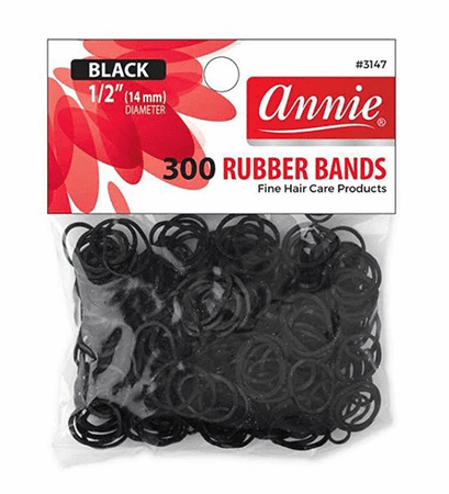 Annie 300 Rubber Bands Black