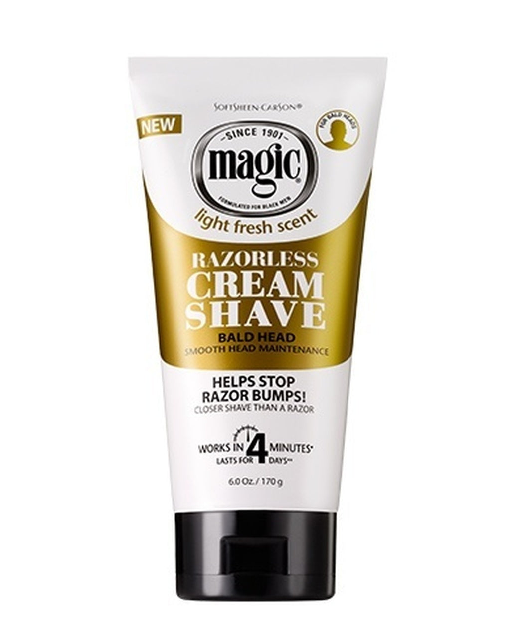 Magic Razorless Cream Shave Bald Head