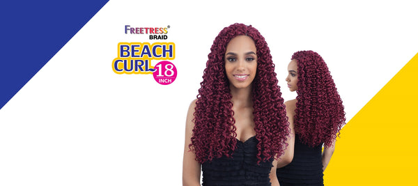 FreeTress Crochet Braid Beach Curl 18""
