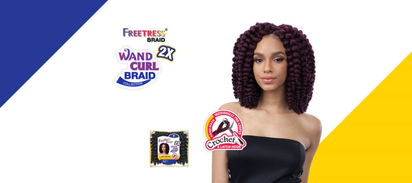 FreeTress Braid 2X Fluffy Wand Curl