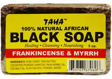 TAHA 100% Natural African Black Soap Frankincense & Myrrh