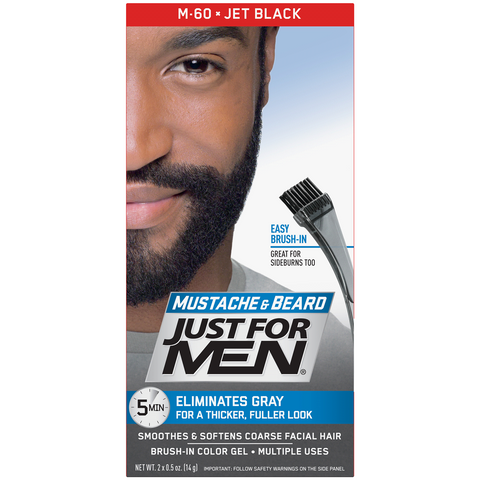 Just For Men Mustache & Beard Jet Black 5-Minute