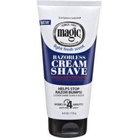 Magic Razorless Cream Shave Regular Strength