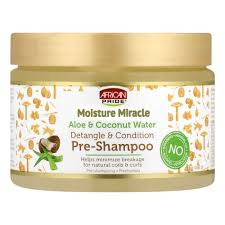African Pride Moisture Miracle Aloe & Coconut Water Pre-Shampoo